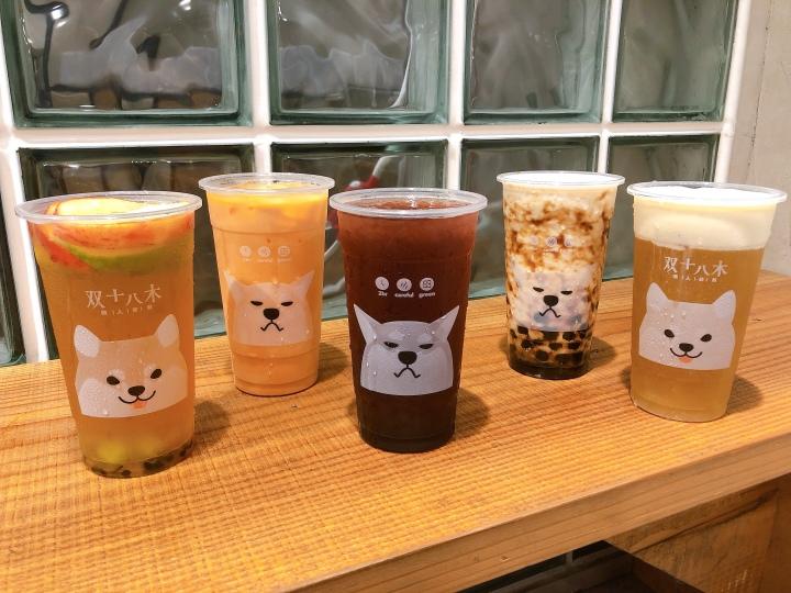 【台南飲料店|中西區】双十八木職人茶飲民族店,實力賣萌的柴犬手搖飲