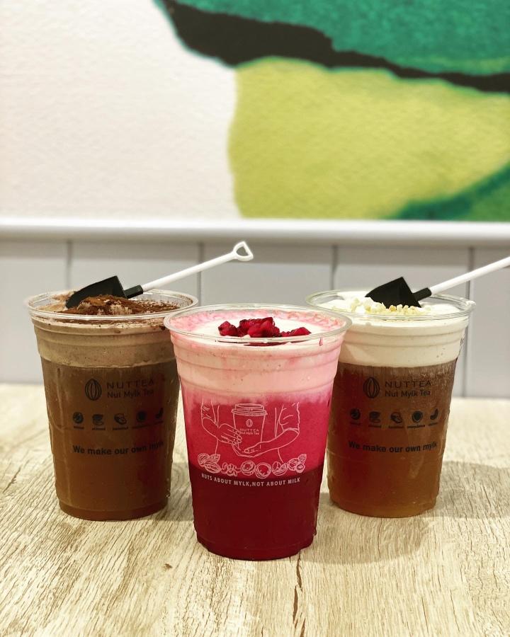 【台北飲料店|中山區】NUTTEA堅果奶茶:鮮果茶飲堅果奶、VEGAN新態度,素食也能喝的鮮奶茶🥤Nut Mylk Tea🌰